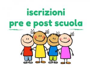 ISCRIZIONI AL SERVIZIO DI PRE E POST SCUOLA ANNO EDUCATIVO 2021-2022